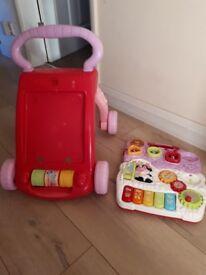 V tech pink baby walker