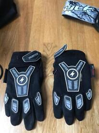 Hunter motor cross gloves - child