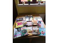 Bundle of 11 cook books & 2 books on wine. £5 bargain!