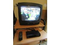 Portable TV with Se top Box