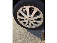 alloy wheels no tyres