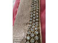 Beautiful Peach, diamond edged sari