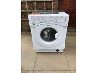 HOTPOINT BHWM1292 7kg Integrated Washing Machine - Barely Used