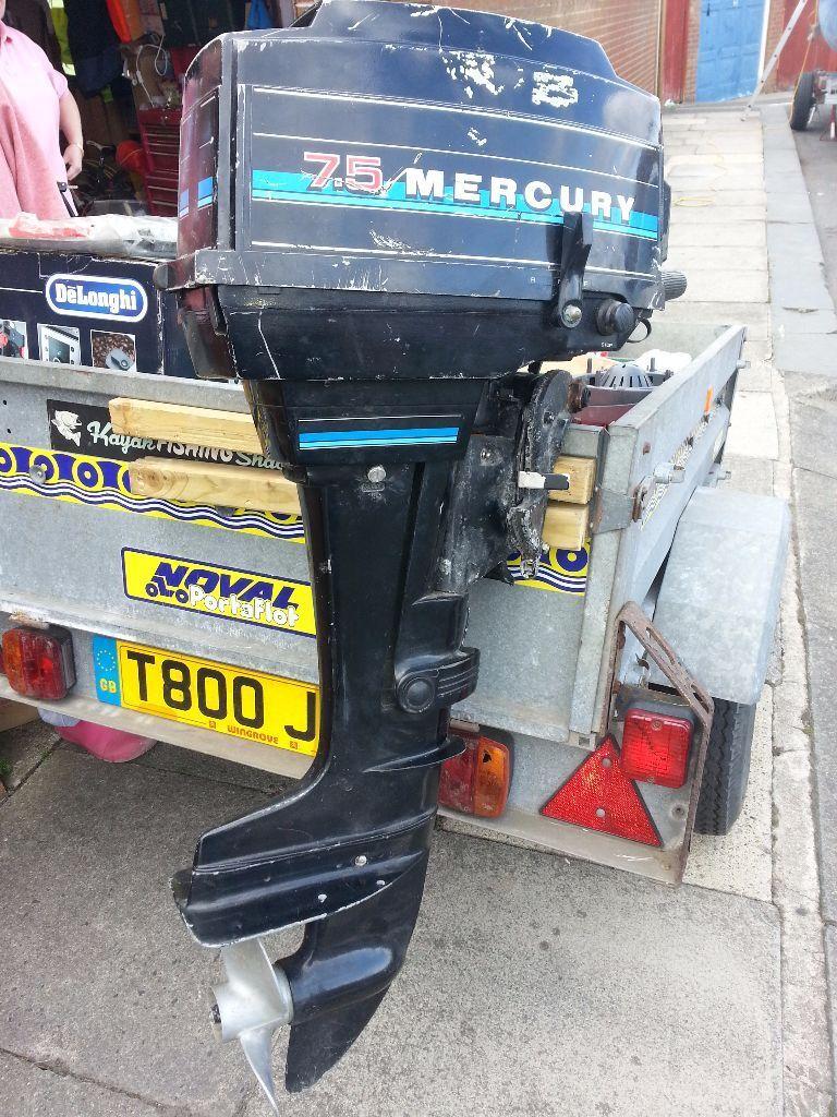 Mercury Blue Band Outboard Engine In Blyth