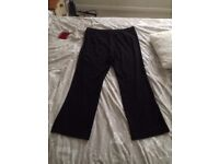 M&S Collection Bootleg Black Trousers - Size 18