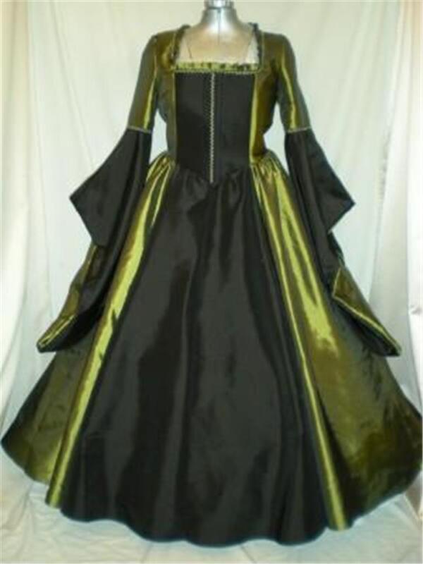 """Tudor Renaissance Madrigal Boleyn Dress Gown, Your Size Choice, Busts 34"""" - 48"""""""