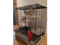 Large Rat Cage and Two Carry Cases
