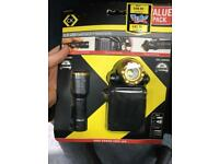 C.L LED Hand torch + head torch