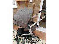 Mothercare Grey Genie Pushchair A0419 Travel System ( Also Converts To Tandem)