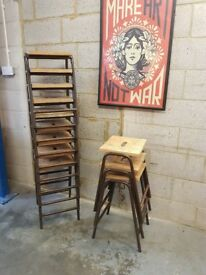 Vintage Industrial Stacking Stools (12 available)