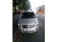 cheap car Vauxhall Zafira 7 seater 1.9 diesel