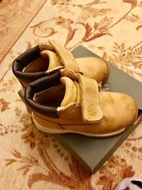 Timberland Timber Tykes Hook and Loop - Wheat Nubuck boots UK6.5