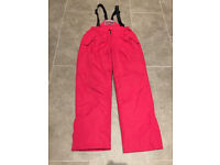 Ski Salopettes - Age 13/14 - Worn Once - Red