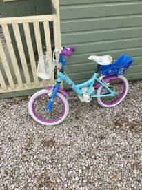 Frozen Childs Bicycle with helmet