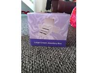 Large Cream Jewellery Box