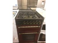 55CM RED LESUIRE GAS COOKER