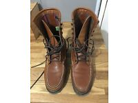 Brown Timberland boots, size 10