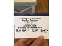2 SEATED LONDON GRAMMAR TICKETS TONIGHT APOLLO