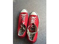 Converse all star women's red sneaker size 8