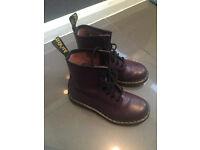 Purple Dr Martens Boots Size 4