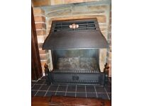 Flavel Emberglow gas fire in full working order