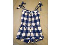 Checked Playsuit