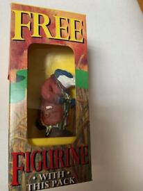 Typhoo Wind in Willows Badger boxed collectable Figurine - Lancing