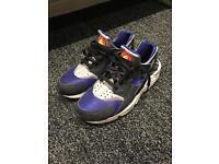 Mens Nike Huarache blue/silver/black
