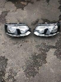 VW Transporter T5 Van 1/2010-2015 Black Twin Headlight Headlamp