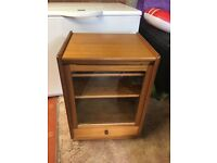 Teak Nathan Furniture HIfi Stereo Cabinet Turntable Compartment