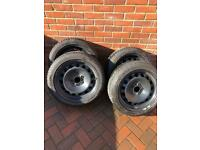 BMW winter runflat tyres and steel wheels