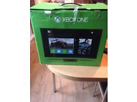 Xbox one with headset and controller