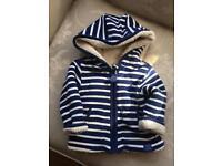 Boys Joules reversible fleece jacket