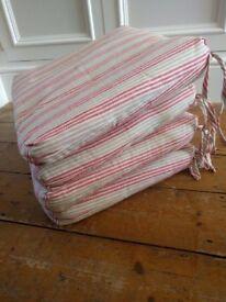 Ikea chair cushions red/white stripe