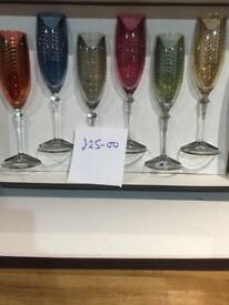 Exquisite champagne glasses for sale
