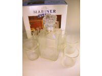 Mariner Fleet Whisky Decanter & 6 Tumblers in Original Box VGC (WH_0058)