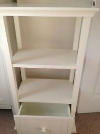 White company shelf unit