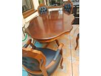 Dining Table, - with 6 chairs