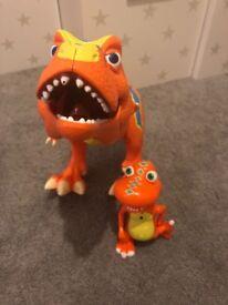 Boris the dinosaur and friend