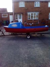 14/16ft fibre glass boat package