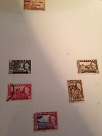 Reduced Malaya stamps