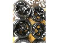 "17"" GENUINE VAUXHALL CORSA D ALLOY WHEELS SET OF 4 h"