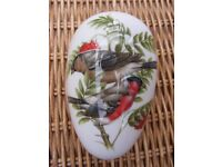 Coalport China Egg British Birds Bullfinch