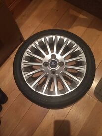 ford fiesta titanium wheel with brand new tyre 195/45/16