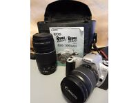 Canon EOS SLR Camera (film) with 35mm Lens + 75-100mm Zoom lens + Case - £50