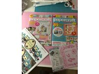 2 Papercraft Magazines with 2 free gifts, scrapbooking, cardmaking