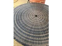 Circular rattan table