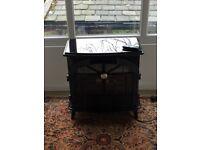 Dimplex Stockbridge high black gloss cast iron style electric stove