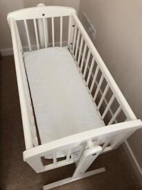 White rocking crib - mothercare