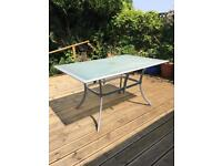 Outdoor patio dining table - rectangular